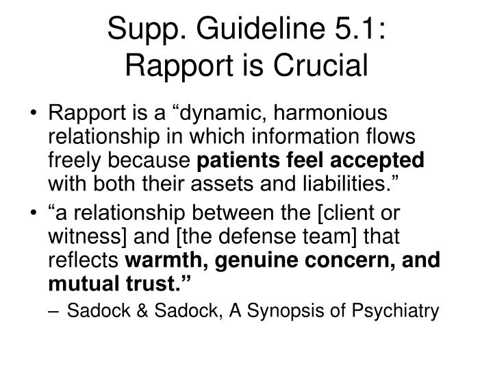 Supp. Guideline 5.1:
