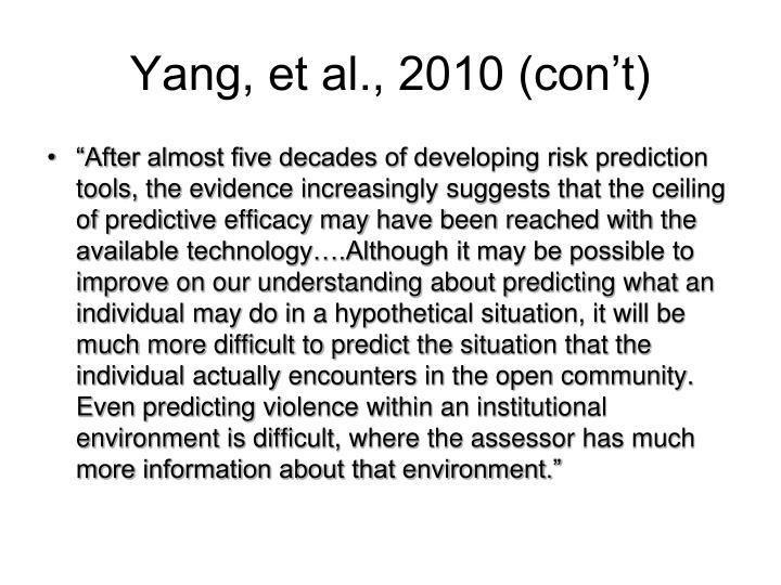 Yang, et al., 2010 (con't)
