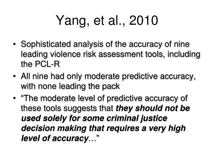 Yang, et al., 2010