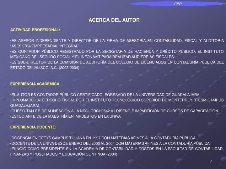 ACERCA DEL AUTOR