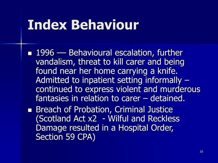 Index Behaviour