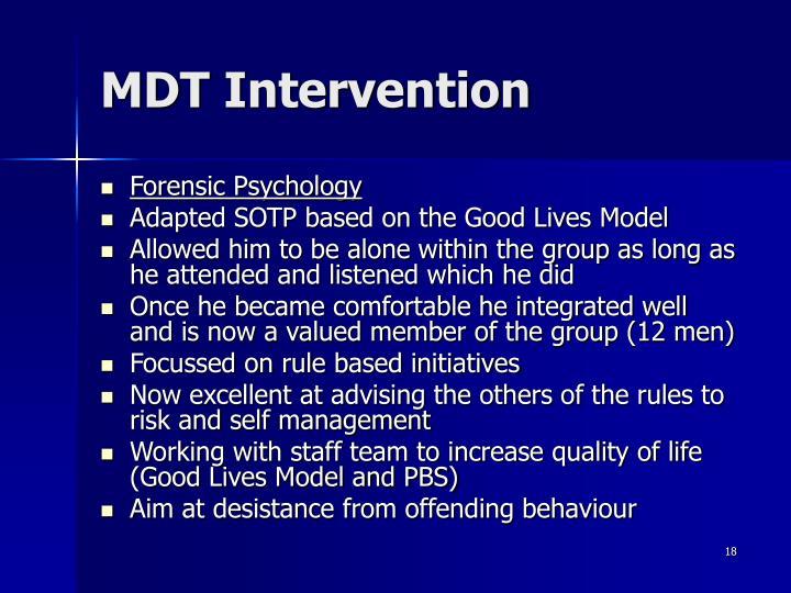 MDT Intervention