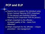 pcp and elp