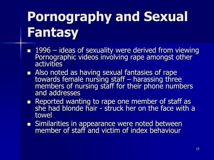 Pornography and Sexual Fantasy