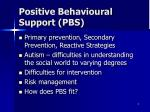 positive behavioural support pbs
