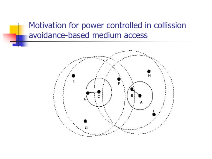 Motivation for power controlled in collission avoidance-based medium access