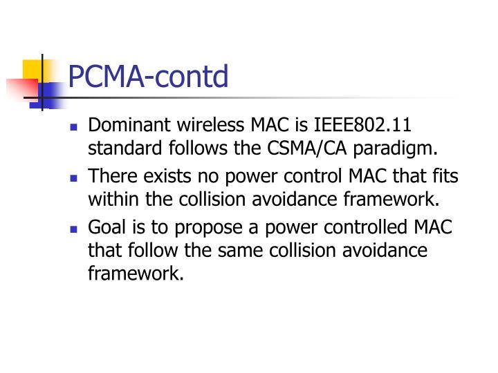 PCMA-contd