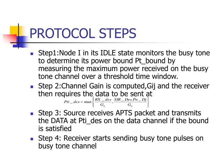 PROTOCOL STEPS