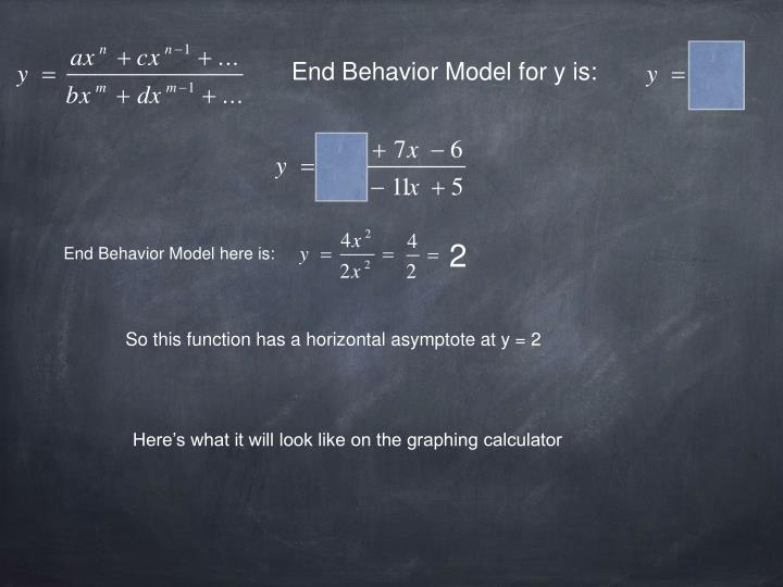 End Behavior Model for y is: