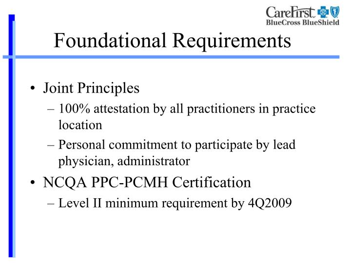 Foundational Requirements