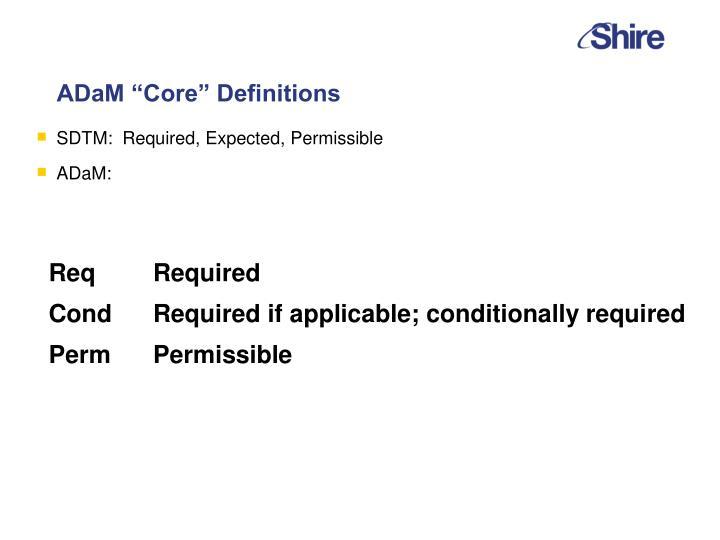 "ADaM ""Core"" Definitions"