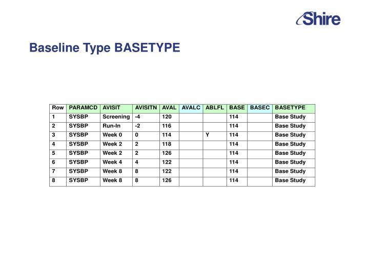 Baseline Type BASETYPE