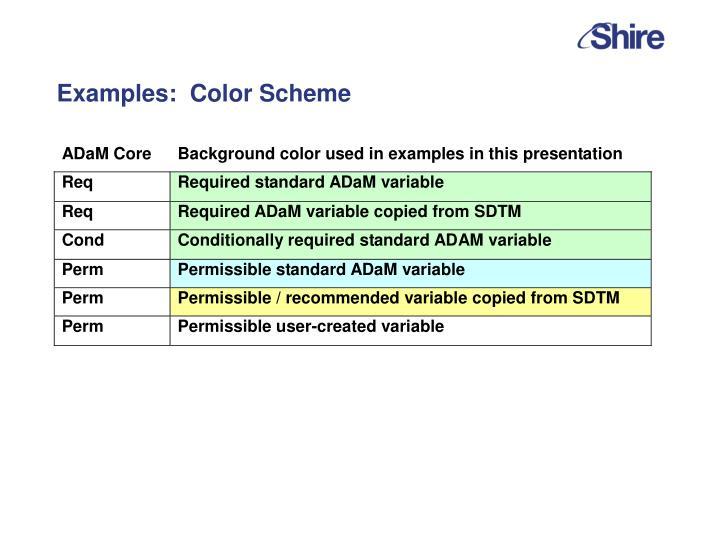 Examples:  Color Scheme