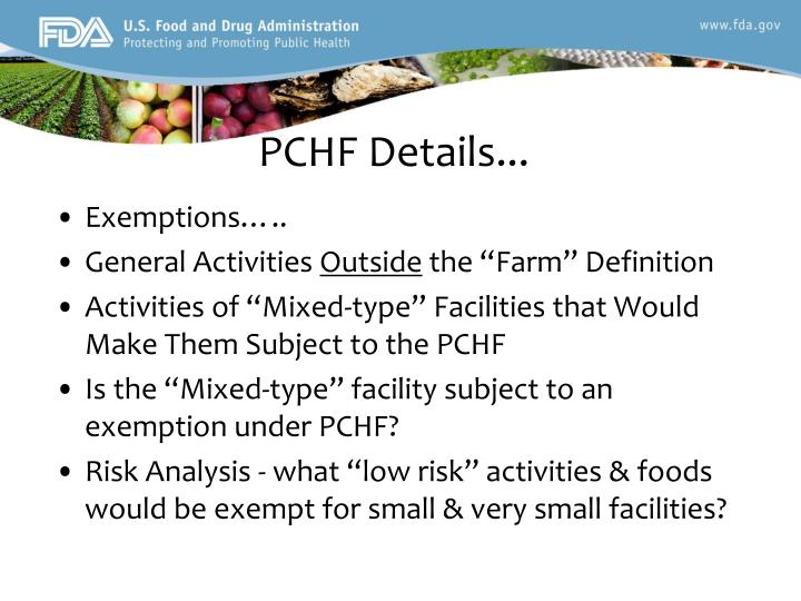 PCHF Details...