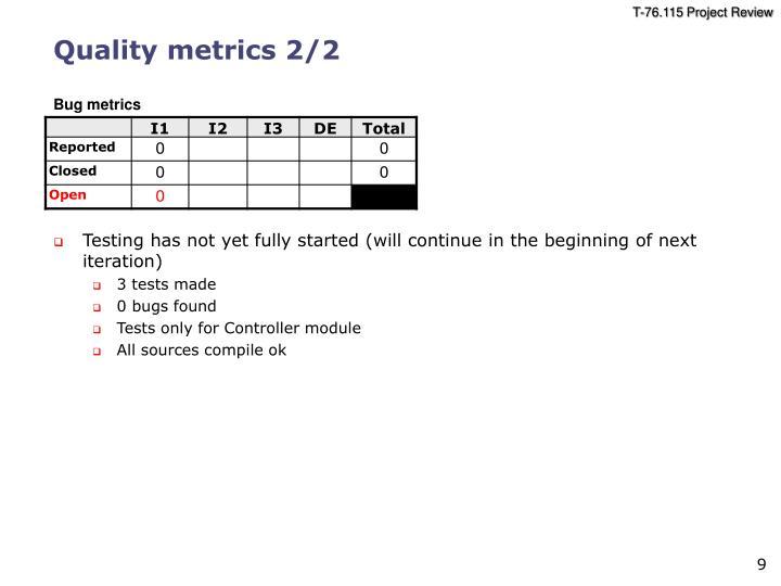 Quality metrics 2/2