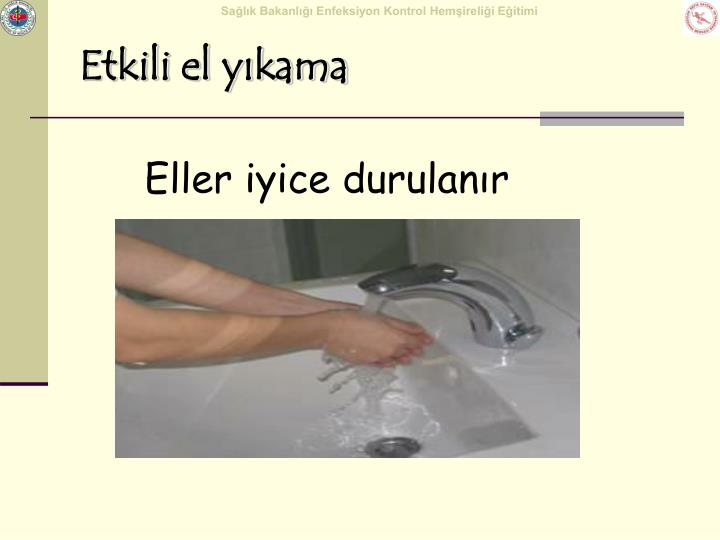 Etkili el yıkama