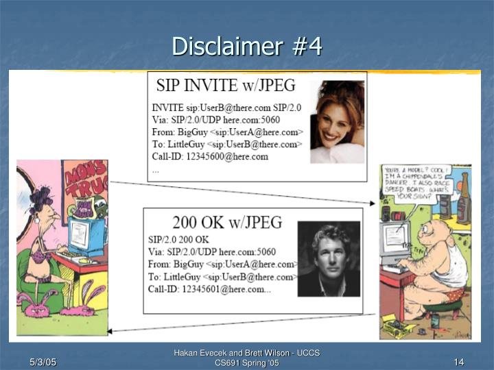 Disclaimer #4
