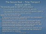 the secure real time transport protocol srtp