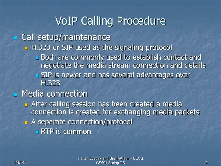 VoIP Calling Procedure