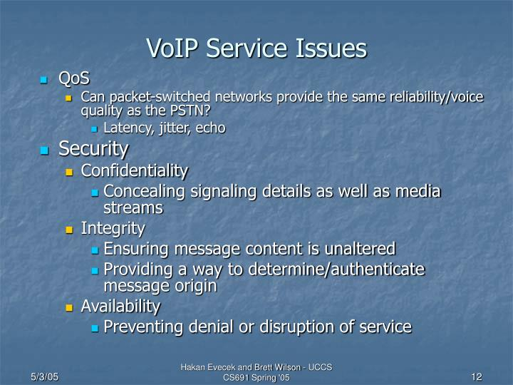 VoIP Service Issues
