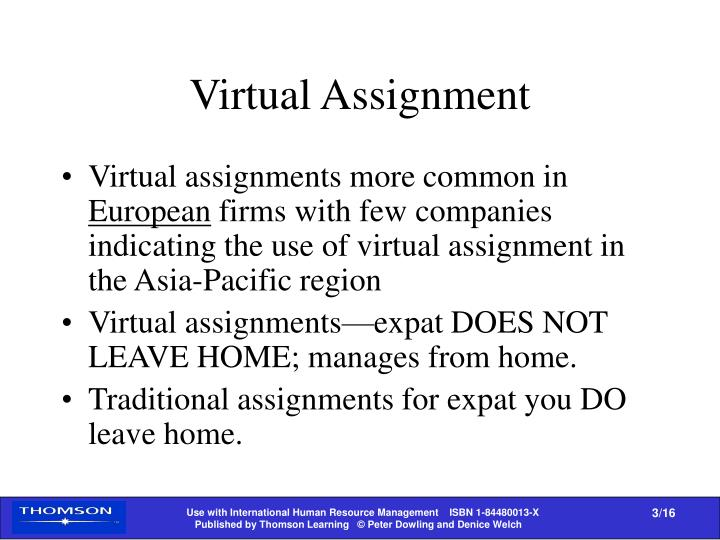 Virtual Assignment