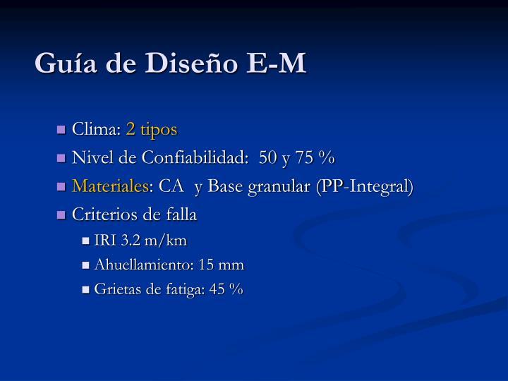 Guía de Diseño E-M
