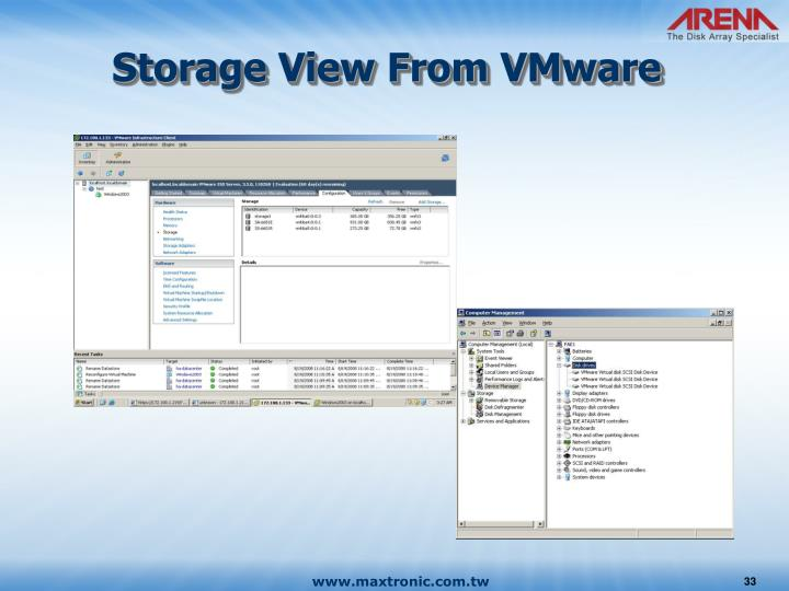 Storage View From VMware