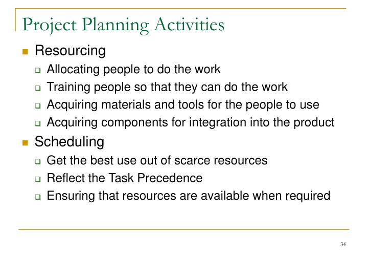 Project Planning Activities