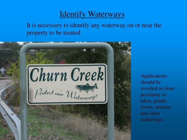 Identify Waterways