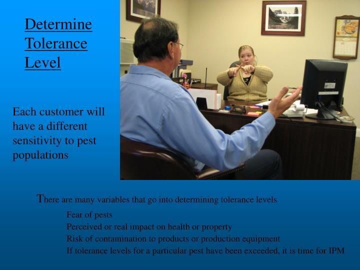 Determine Tolerance