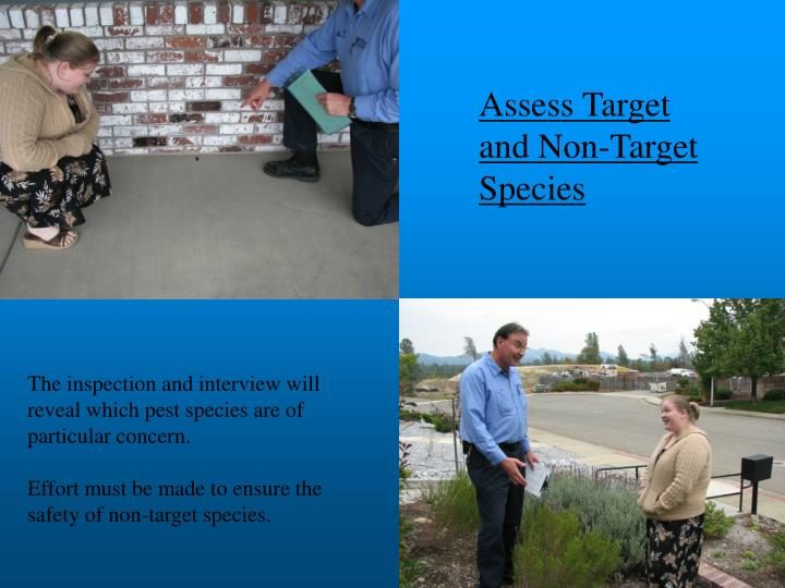Assess Target and Non-Target Species
