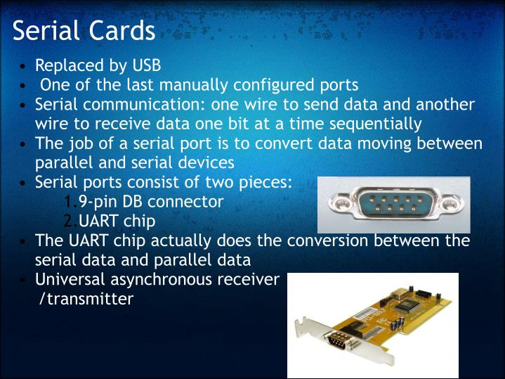 Serial Cards
