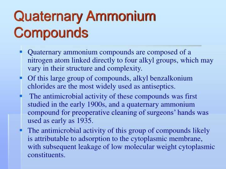 Quaternary Ammonium Compounds