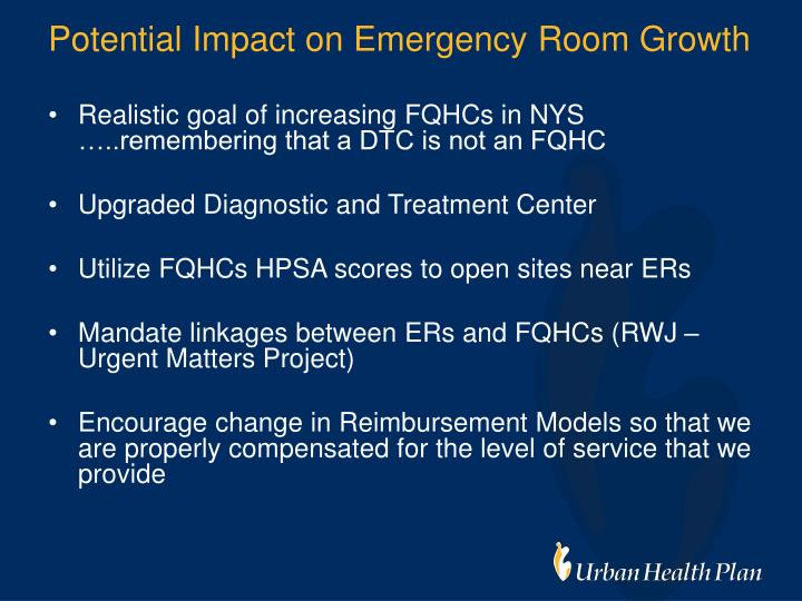 Potential Impact on Emergency Room Growth
