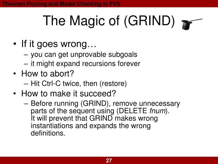 The Magic of (GRIND)