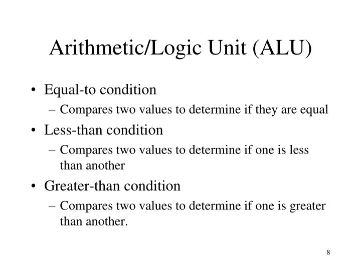 Arithmetic/Logic Unit (ALU)