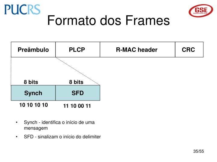 Formato dos Frames