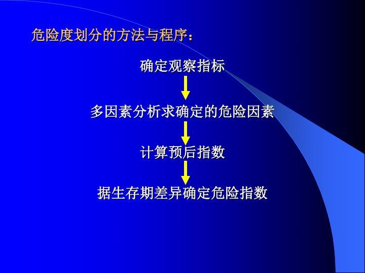 危险度划分的方法与程序: