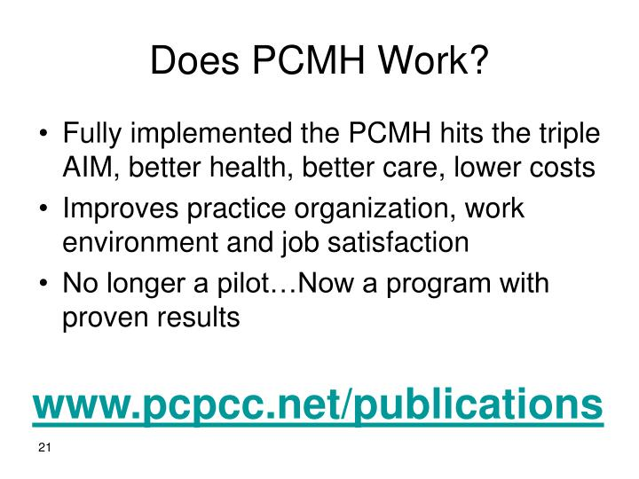 Does PCMH Work?
