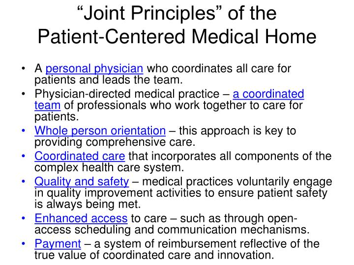 """Joint Principles"" of the"