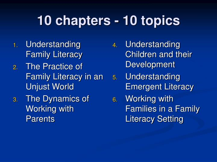 Understanding Family Literacy