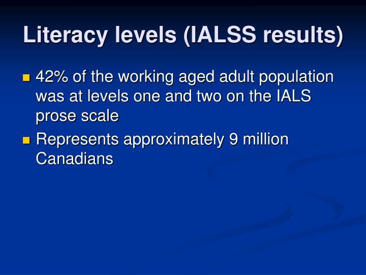 Literacy levels (