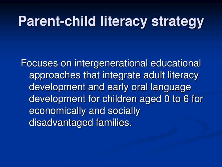 Parent-child literacy strategy
