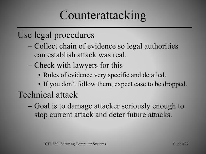 Counterattacking