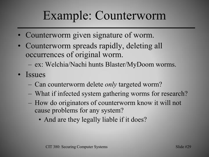 Example: Counterworm