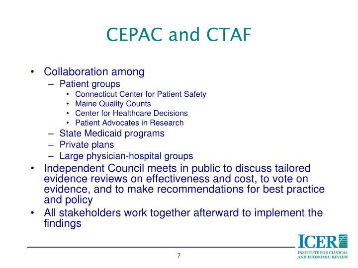CEPAC and CTAF
