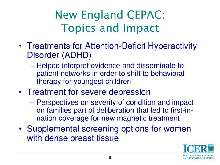 New England CEPAC: