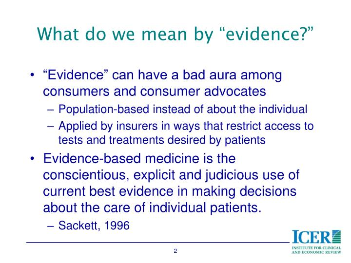 "What do we mean by ""evidence?"""