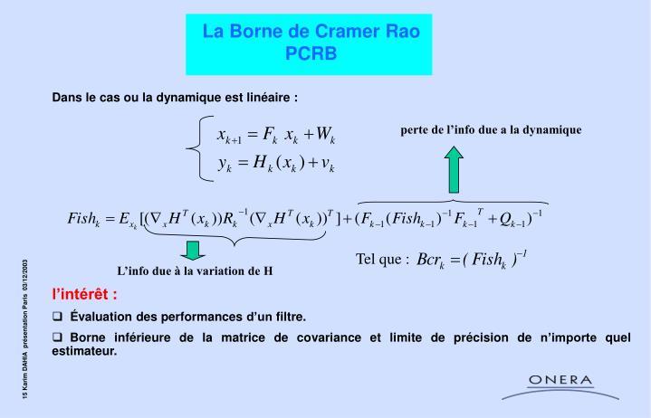 La Borne de Cramer Rao