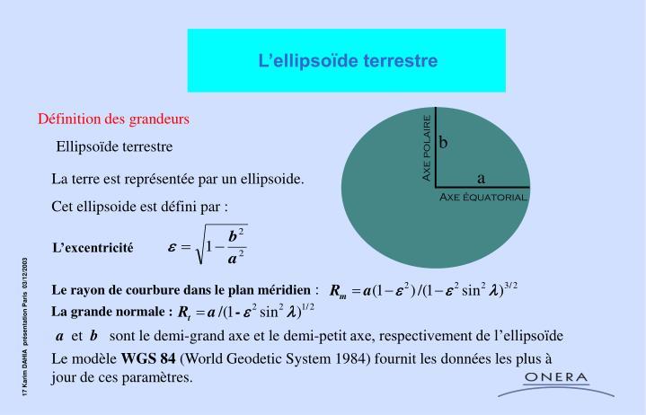 L'ellipsoïde terrestre